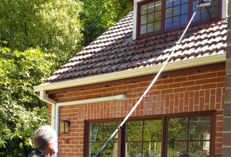solar cleaning, commercial and domestic window cleaning